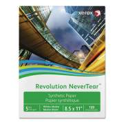 Xerox Revolution NeverTear, 8 mil, 8.5 x 11, Smooth White, 500/Ream (3R20176)