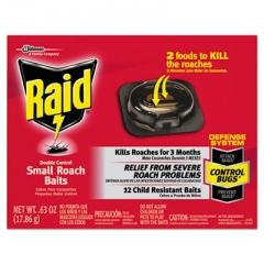 Raid Roach Baits, 0.63 oz Box, 12/Carton (697324)