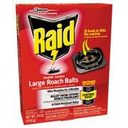 Raid Roach Baits, 0.7 oz, Box, 6/Carton (697330)