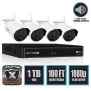 Night Owl 4 Channel Wireless Smart Security Hub, 1080p Resolution (WNVR20144P-B)
