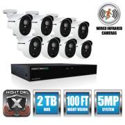Night Owl 8 Channel Extreme HD Video Security DVR, 5MP Resolution (XHD502-88P-B)