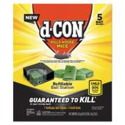 d-CON Refillable Bait Station and Refills, 1 Bait Block;5 Refills/Box, 8/Carton (98343)