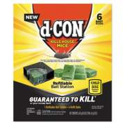 d-CON Refillable Bait Station and Refills, 1 Bait;6 Refills/Box, 8 Box/Carton (98665)