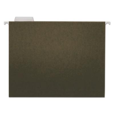 Universal Hanging File Folders, Letter Size, 1/5-Cut Tab, Standard Green, 25/Box (UNV14115EE)