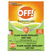 OFF! Botanicals Insect Repellant, Box, 10 Wipes/Pack, 8 Packs/Carton (694974)