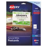 Avery Textured Postcards, Inkjet, Heavyweight, 4 1/4 x 5 1/2, Matte White, 120/Box (3380)