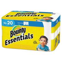 Bounty Essentials Select-A-Size Kitchen Roll Paper Towels, 2-Ply, 104 Sheets/Roll, 12 Rolls/Carton (74647)