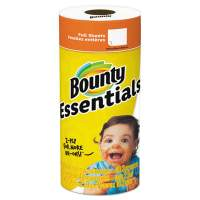 """Bounty Essentials Paper Towels, 2-Ply, White, 10.2"""" x 11"""", 40 Sheets/Roll (74657RL)"""
