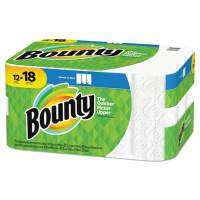 Bounty Select-a-Size Paper Towels, 2-Ply, White, 5.9 x 11, 83 Sheets/Roll, 12 Rolls/CT (65538)