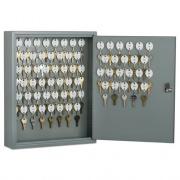 AbilityOne 7125001328973 SKILCRAFT Locking Key Cabinet, 70, 14w x 3 1/4d x 17 1/4h, Gray