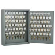 AbilityOne 7125002853049 SKILCRAFT Locking Key Cabinet, 90, 14w x 3 1/4d x 17 1/4h, Gray