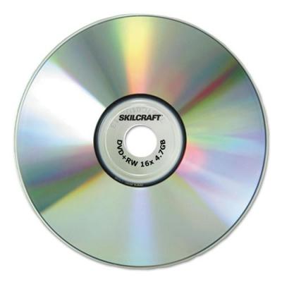 AbilityOne 7045017045015155373, Branded Attribute Media Disks, DVD+RW, 4.7GB, 4x, Spindle, 25/PK