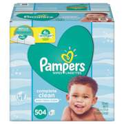 Pampers Complete Clean Baby Wipes, 1 Ply, Baby Fresh, 504/Pack (75614)