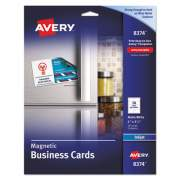 Avery Magnetic Business Cards, 2 x 3 1/2, White, 10/Sheet, 30/Pack (08374)