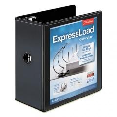 "Cardinal ExpressLoad ClearVue Locking D-Ring Binder, 3 Rings, 5"" Capacity, 11 x 8.5, Black (49151)"