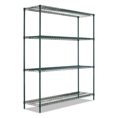 Alera BA Plus Wire Shelving Kit, 4 Shelves, 72