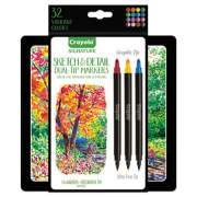 Crayola Sketch and Detail Dual Ended Markers, X-Fine/Fine Bullet Tip, Assorted Colors, 16/Set (586511)