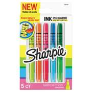 Sharpie Ink Indicator Stick Highlighters, Chisel Tip, Assorted Colors, 5/Pack (2021223)