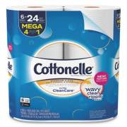 Cottonelle Ultra CleanCare Toilet Paper, Strong Tissue, Septic Safe, 1-Ply, White, 340 Sheets/Roll, 6 Rolls/Pack, 6 Packs/Carton (47747)