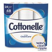 Cottonelle Ultra CleanCare Toilet Paper, Strong Tissue, Septic Safe, 1 Ply, White, 170 Sheets/Roll, 24 Rolls/Pack, 2 Packs/Carton (47766)