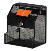 Safco Onyx Mesh Collection Box, 7 1/4 x 8 1/2 x 6, Steel, Black (4238BL)