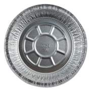 "Durable Packaging Aluminum Round Containers with Board Lid, 7"" Diameter x 1.75""h, Silver, 250/Carton (27025L250)"