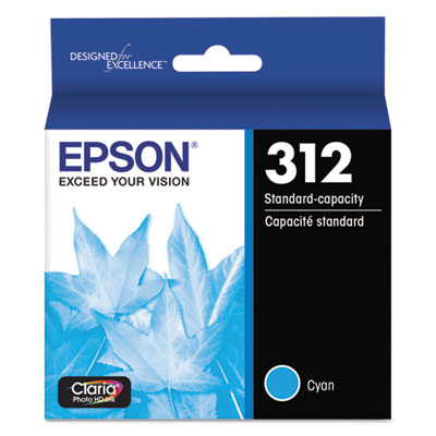 Epson T312220-S (312XL) Claria Ink, 360 Page-Yield, Cyan
