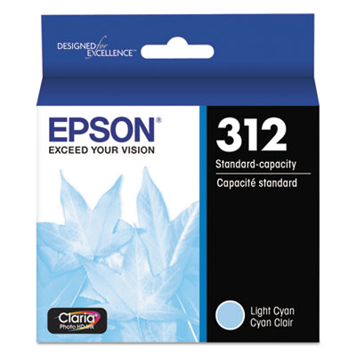 Epson T312520-S (312XL) Claria Ink, 360 Page-Yield, Cyan
