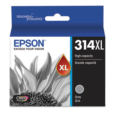 Epson T314XL720-S (314XL) Claria High-Yield Ink, 830 Page-Yield, Gray