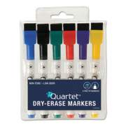 Quartet Low-Odor ReWritables Dry Erase Mini-Marker Set, Fine Tip, Assorted Colors, 6/Set (51659312)