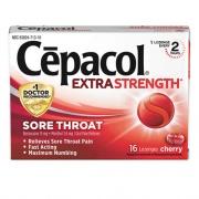Cepacol Exta Strength Sore Throat Lozenge, Cherry, 16/Box, 24 Boxes/Carton (71016CT)