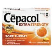 Cepacol Extra Strength Sore Throat Lozenges, Honey Lemon, 16 Lozenges (73016)