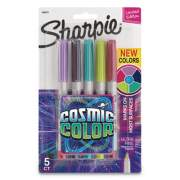 Sharpie Cosmic Color Permanent Markers, Extra-Fine Needle Tip, Assorted Colors, 5/Pack (2033571)