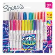 Sharpie Cosmic Color Permanent Markers, Extra-Fine Needle Tip, Assorted Colors, 24/Pack (2033572)