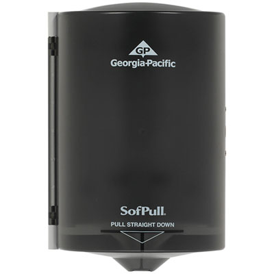 Georgia Pacific Professional Junior C-Pull Towel Dispenser, 7 1/10w x 6 11/16 x 10 3/4, Translucent Smoke (58008)