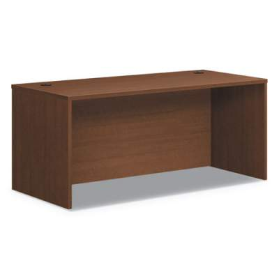 HON Foundation Rectangle Top Desk Shell, 66w x 30d x 29h, Shaker Cherry (HLM6630.F)