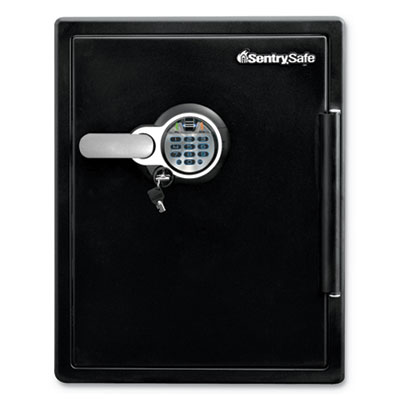 Sentry Safe Fire-Safe with Biometric & Keypad Access, 2 cu ft, 18.6w x 19.3d x 23.8h, Black (SFW205BPC)