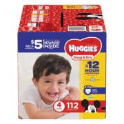 Huggies Snug and Dry Diapers, Size 4, 22 lbs to 37 lbs, 112/Pack (43111)