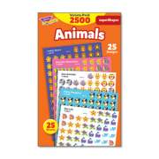 TREND superSpots and superShapes Sticker Packs, Animal Antics, Assorted Colors, 2,500 Stickers (T46904)