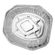 Durable Packaging Aluminum Roaster Pans, Extra-Large Oval, 230 oz, 18.5 x 14 x 3.38, Silver, 50/Carton (40010)