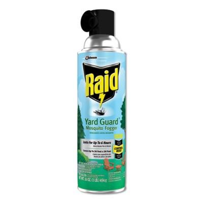 Raid Yard Guard Fogger, 16 oz, Aerosol, 12/Carton (617825)
