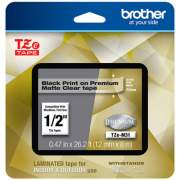 "Brother TZe Premium Laminated Tape, 0.47"" x 26.2 ft, Black on Clear (TZEM31)"