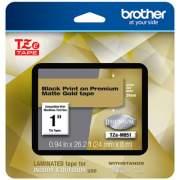 "Brother TZe Premium Laminated Tape, 0.94"" x 26.2 ft, Black on Gold (TZEM851)"