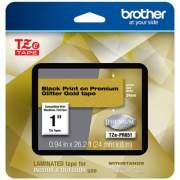 "Brother TZe Premium Laminated Tape, 0.94"" x 26.2 ft, Black on Gold (TZEPR851)"