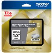 "Brother TZe Premium Laminated Tape, 0.47"" x 26.2 ft, White on Silver (TZEPR935)"