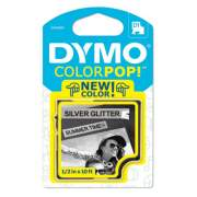 "DYMO COLORPOP! Label Maker Tape, 0.5"" x 10 ft, Black on Silver (2056085)"