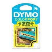 "DYMO COLORPOP! Label Maker Tape, 0.5"" x 10 ft, Black on Gold (2056090)"