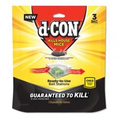 d-CON Disposable Bait Station, 3w x 3d x 1 1/4h, 6/Carton (99427)