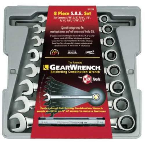 12 Point SAE Laminated Ratcheting Box Wrench Set GEARWRENCH 27-608G 5 Pc