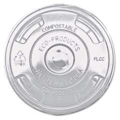 Eco-Products GreenStripe Renewable and Compost Cold Cup Flat Lids, for 9-24 oz, 100/Pack, 10 Packs/Carton (EPFLCC)